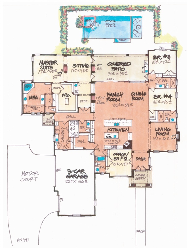 Villa lago home plan Home house plans